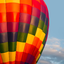 Balloon II by RS Bartlett - Transportation Other ( hot air balloon, colors, sunrise, rainbow, golden hour )