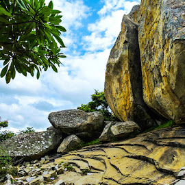 Creativity of nature.Naturally formed stack of stones  by Mou Chakravarty - Nature Up Close Rock & Stone