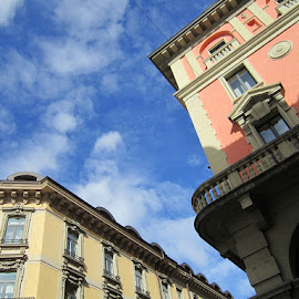 Lugano, Ticino, Switzerland by Serguei Ouklonski - City,  Street & Park  Historic Districts ( sky, historic, outdoors, blue, cloud - sky, nature, structure, architecture )