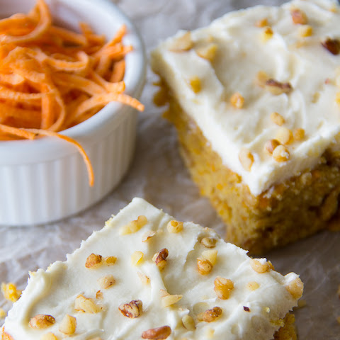 Sweet Potato Blondies with Cream Cheese Frosting