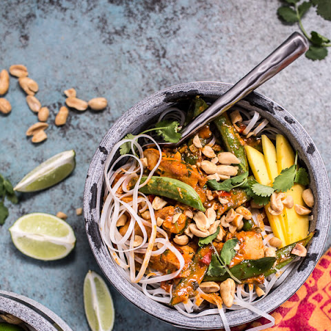 Thai Red Fish Curry Noodles.