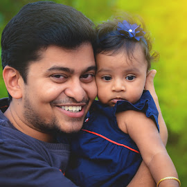 Father & Daughter by Jackson Sushil Kumar - People Family ( dad, girl, daddy, care, daughter, india, baby, cute, nikon, nikonindia, father )