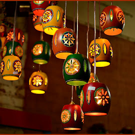 Lamp shades by Prasanta Das - Artistic Objects Other Objects ( hanging, lampshades, colorful )