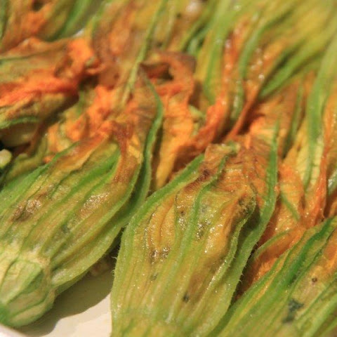 Baked Stuffed Zucchini Flowers or Squash Blossoms)