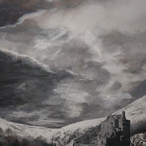 Castle Campbell, Scotland by Ros Dando - Painting All Painting