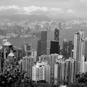 Victoria Peak by Shawn Dechant - Buildings & Architecture Office Buildings & Hotels ( water, hong kong, tall buildings, skyscrapers, places to see, places, images around the world, height, tourists, buildings, asia, hong kong photography, hong kong images, culture, travel photography )