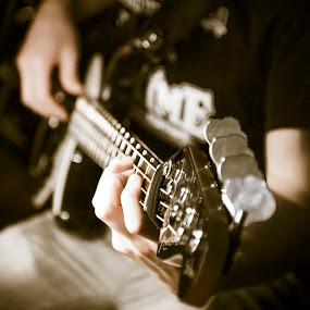 Axe man by Stefen Dicks - People Musicians & Entertainers ( bass, musician, axe )