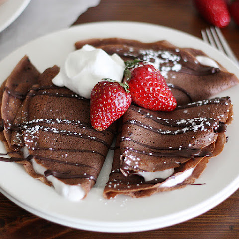 Chocolate Covered Strawberry Crepes