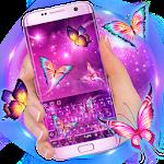 3D Neon Butterfly Keyboard Theme Icon