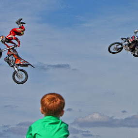 Fly Past by Peter Parker - Transportation Motorcycles ( sky, motorbike, crazy, motorcycle, stunt, boy, ramp, jump )