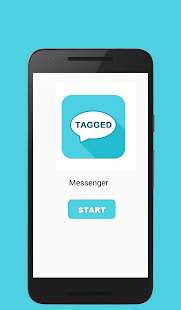 Messenger chat and Tagged talk - screenshot