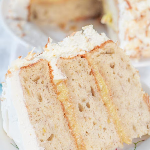 Fluffy Banana Cake with Fresh Banana Curd Filling
