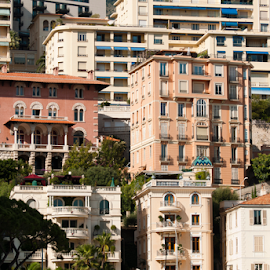 Buildings in Monaco by Deyan Georgiev - Landscapes Travel ( principality, port, famous, riviera, harbor, europe, monaco, seaside, french, architecture, travel, landscape, coastline, panorama, coast, city, sailing, mediterranean, lifestyle, buildings, france, azure, sightseeing, building, rich, tourism, scenic, luxury, holiday, urban, european, vacation, wealth, view, scenery )