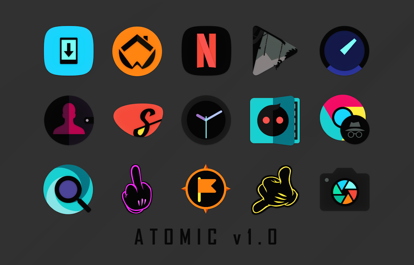 Atomic Icon Pack Screenshot 1