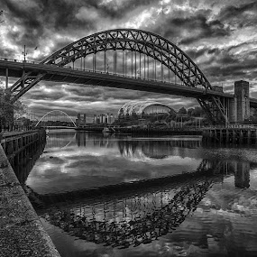 newcastle by Adam Lang - Black & White Buildings & Architecture ( gatehead, sage, tyne, newcastle, baltic )