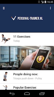 Personal-trainer.nl Work-out - screenshot
