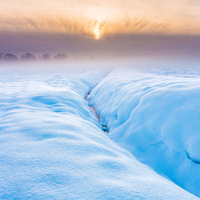 Sunrise snowdrift by Nigel Bishton - Landscapes Sunsets & Sunrises (  )