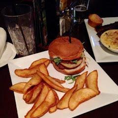 GF turkey cheese burger with GF Fries