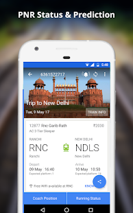 App Indian Rail Train PNR & Running Status, IRCTC Info APK for Windows Phone