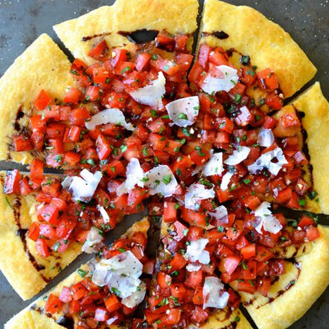 Bruschetta Pizza with Balsamic Syrup