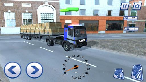 Police Truck Hill Simulator - screenshot