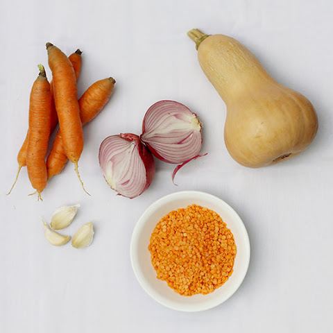 Powerhouse Butternut Squash, Carrot, Red Lentil Soup
