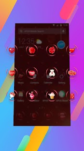Red heart lovely-APUS Launcher free fashion theme APK for Bluestacks