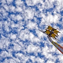 Crazy fun seen from below! by Alex Graeme - City,  Street & Park  Amusement Parks