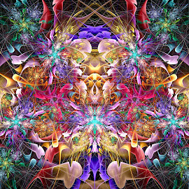 Double Devil Espiral by Peggi Wolfe - Illustration Abstract & Patterns ( abstract, wolfepaw, gift, unique, bright, illustration, fun, double, devil, digital, print, décor, pattern, color, espiral, unusual, fractal )