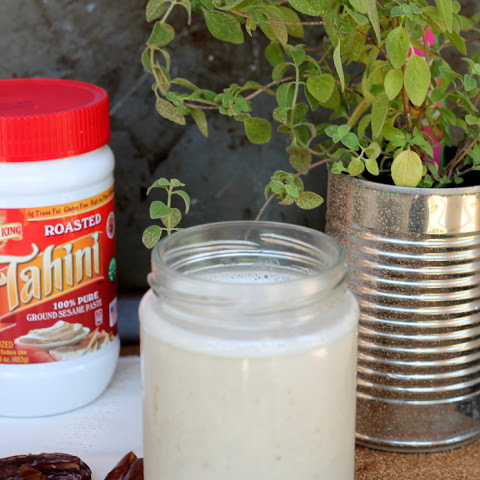 Banana Dates Tahini Smoothie