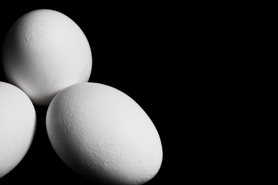 what? egg.. by Samet Işık - Food & Drink Cooking & Baking ( solid, pure, white, egg, b-w, black )