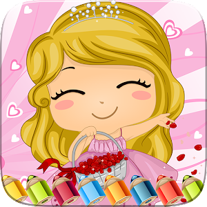 Sweet Little Girl ColoringBook