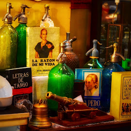 Evita and oldies !  by Nelida Dot - Artistic Objects Other Objects ( books, old, artistic, antique, bottle, bell )