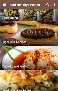 Find healthy recipes - screenshot