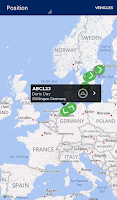 Screenshot of Scania Fleet Management