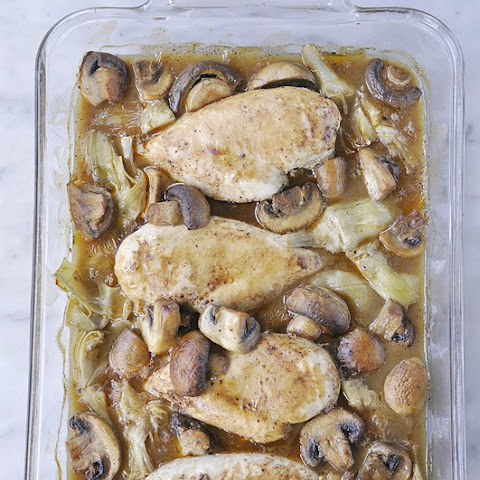 Chicken Breasts Supreme with Artichoke Hearts and Mushrooms