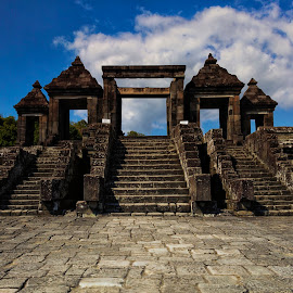 gate ratu boko temple by Hartono Wijaya  - Buildings & Architecture Other Exteriors ( building, architechture, park, architecture, buddha, hinduism, gate, temple, history, landmark, cultural heritage, buddhism, yogyakarta, travelling, arches national park, indonesia, java, landscapes, palace, culture, travel photography )