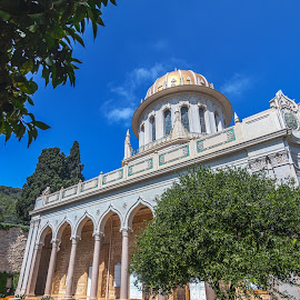 Shrine of the Bab by Ido Ben-Itzhak - Buildings & Architecture Places of Worship ( shrine of the bab, dome, haifa, bahai, garden )