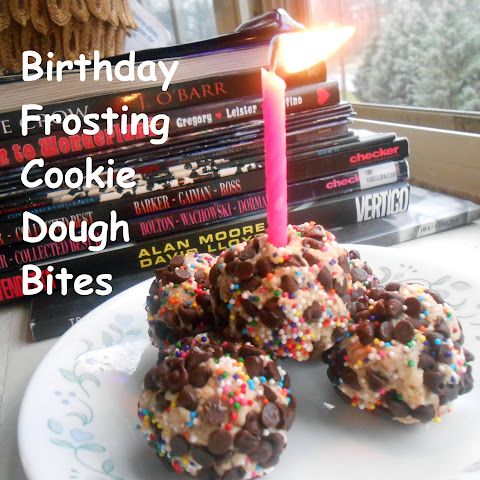 Birthday Frosting Cookie Dough Bites