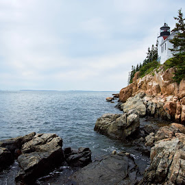 Bass Harbor light by Joe Fazio - Buildings & Architecture Public & Historical (  )