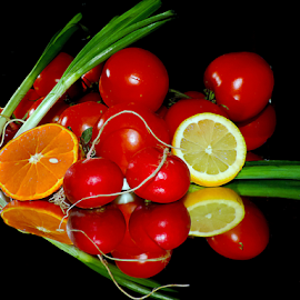citrus with vegetables by LADOCKi Elvira - Food & Drink Fruits & Vegetables ( vegetables )