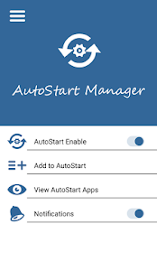 AutoStart App Manager Screenshot