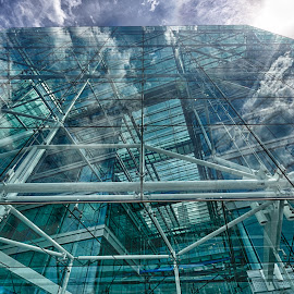 See through  by Nizam Akanjee - Buildings & Architecture Other Exteriors ( clouds, see through, sky, london, metal structure, glasses, hue, colours )