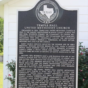 Organized in 1854, Temple Hall United Methodist Church is one of the earliest institutions in Hood County. During the mid-1800s, residents formed the community of Center Mill. Needing a place of ...