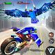 US Police Flying Bike: Eagle Robot Transformation