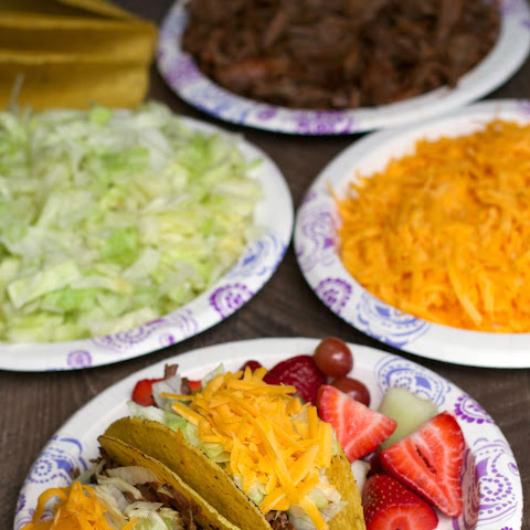 Easy Slow Cooker Shredded Beef Taco Bar