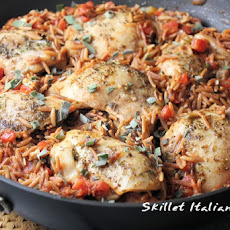 One Pot Italian Chicken with Orzo