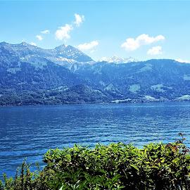 summer lake by Nele Hölzer - Instagram & Mobile Android ( mountains, cloud, berner oberland, summer, lake )