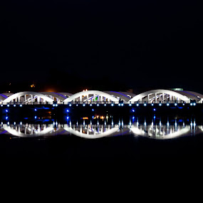 Napier Bridge by Nanda Kumar - Buildings & Architecture Other Exteriors ( reflection, colors, bridge, napier, architecture )