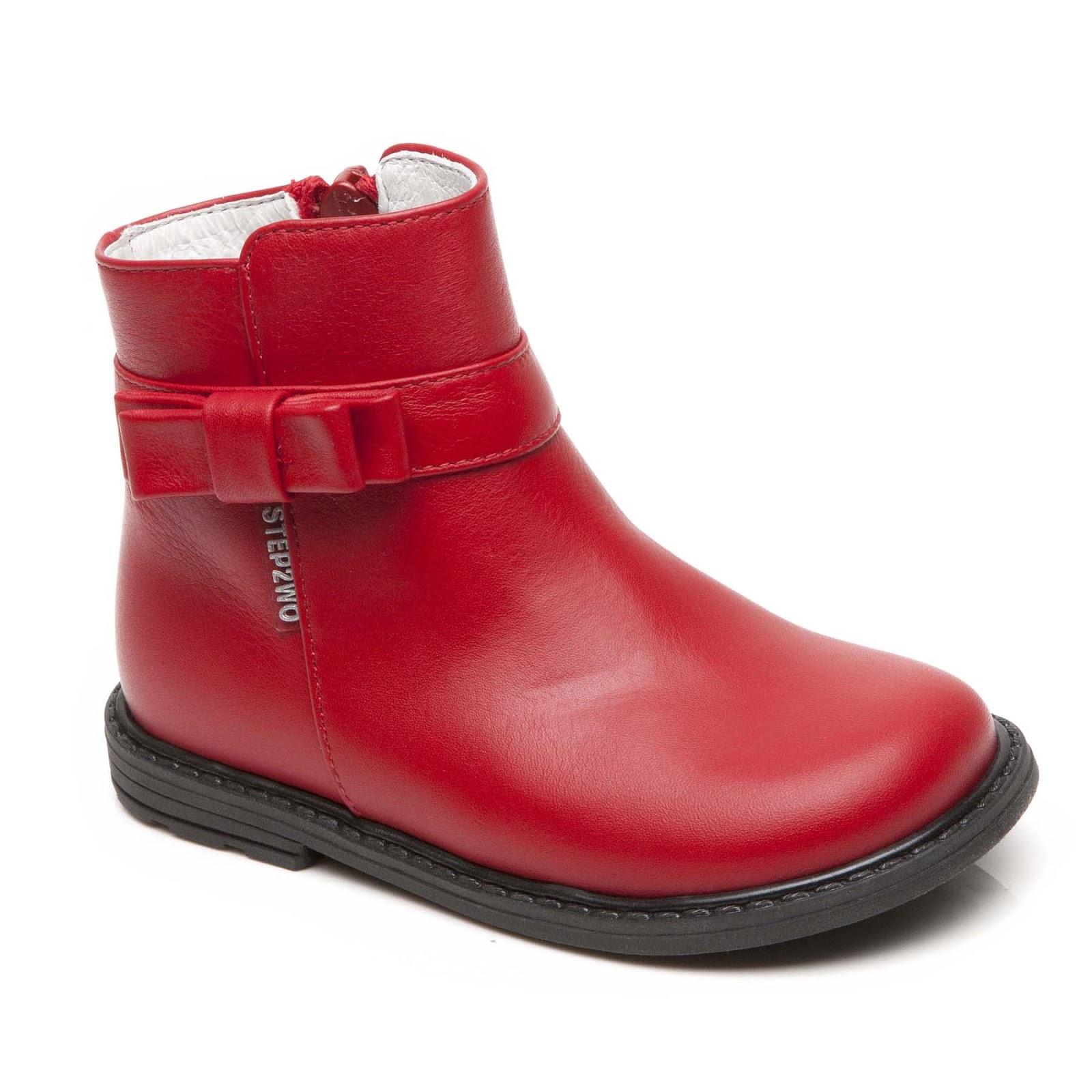 Step2wo | Step2wo | Faith - Zip Ankle Boot Children's Boot in Red ...